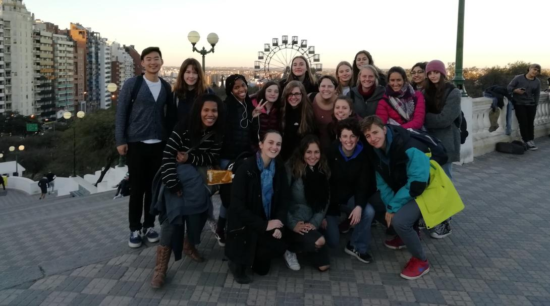Teenagers volunteering in Argentina with children explore Argentina as part of their project.
